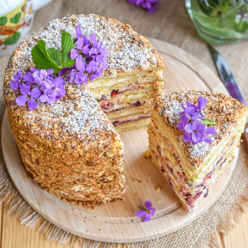 Chopped pastry cranberry cake-2