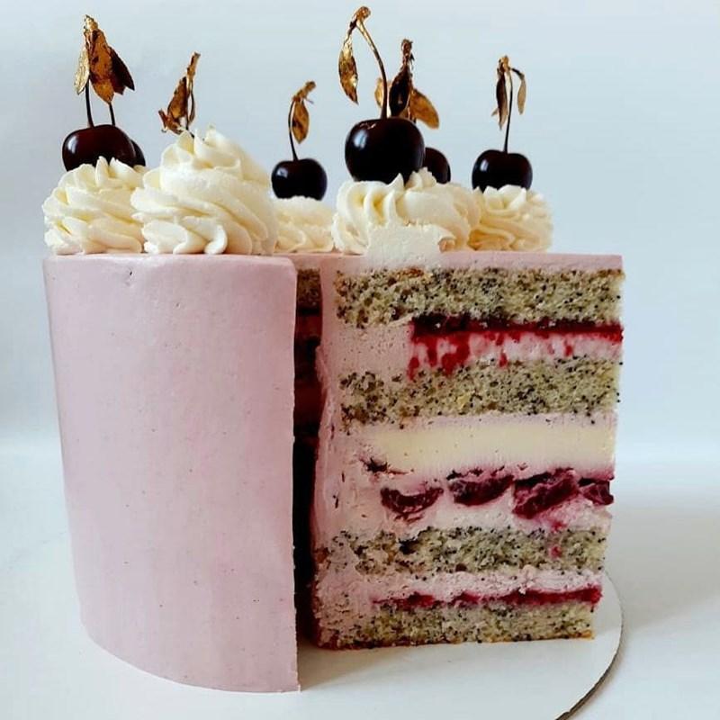 CHERRY & RASPBERRY CAKE-3