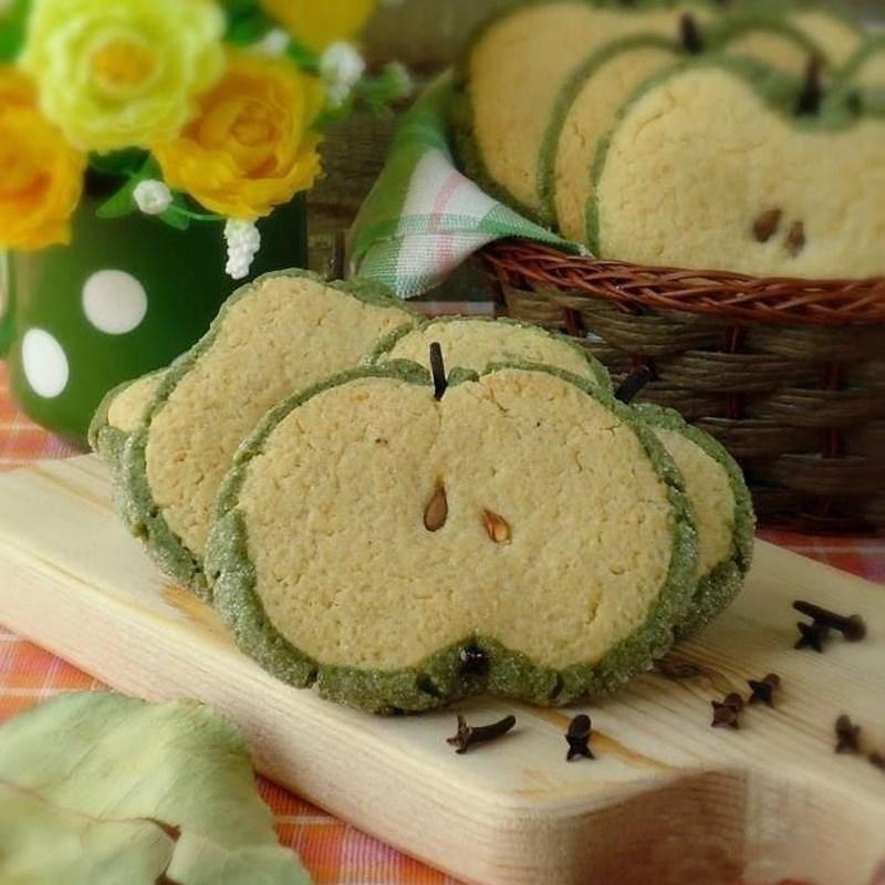Green apple-like cookies-2