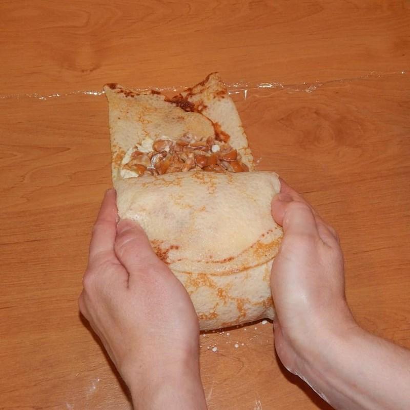 """Pancake snack """"Stump"""" cake-3"""