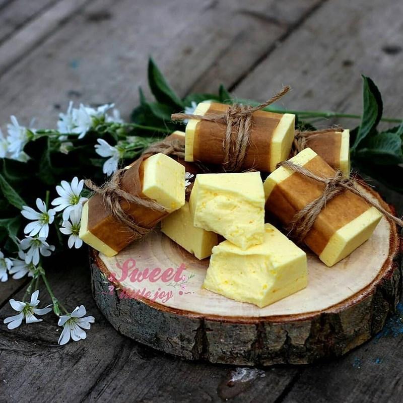 Lemon curd-based souffle-3