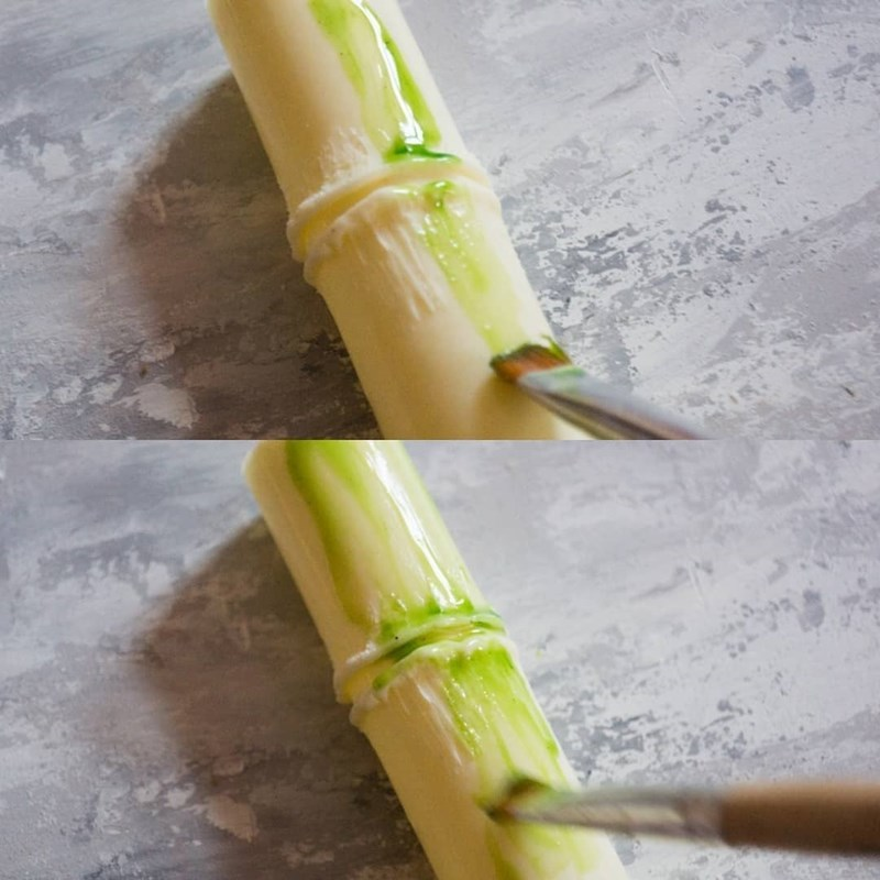Chocolate bamboo for cake decoration-2