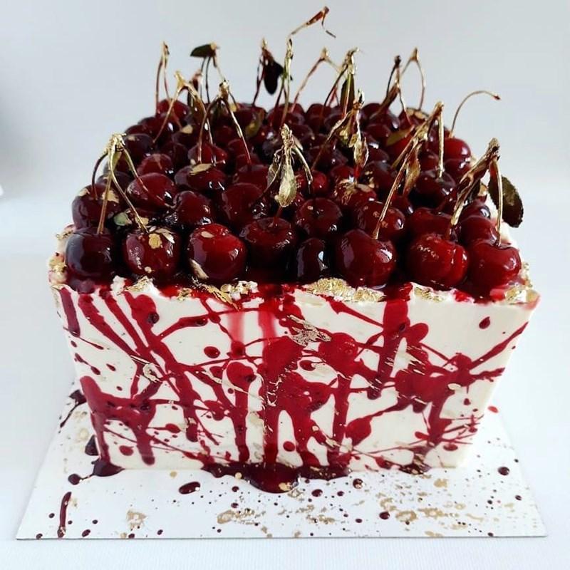 CHERRY & ALMOND CAKE WITH SESAME-4