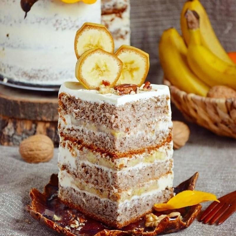 Pecan & banana cake-3