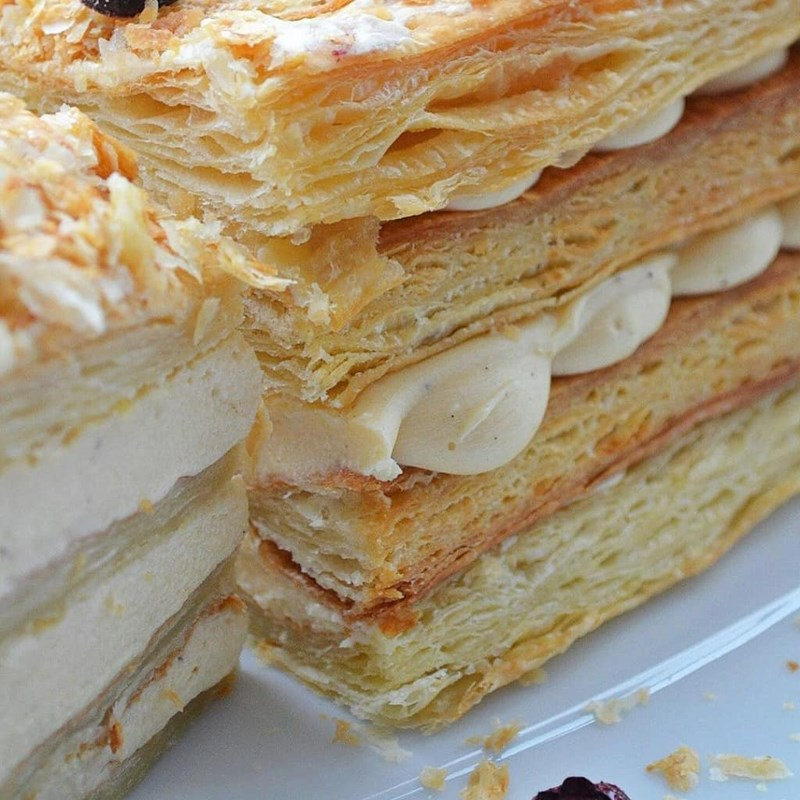 Homemade Napoleon cake with puff pastry-3