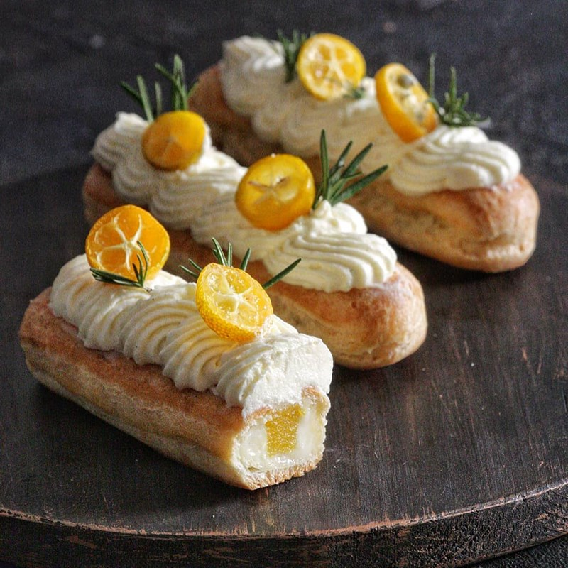 Tangerine eclairs-2