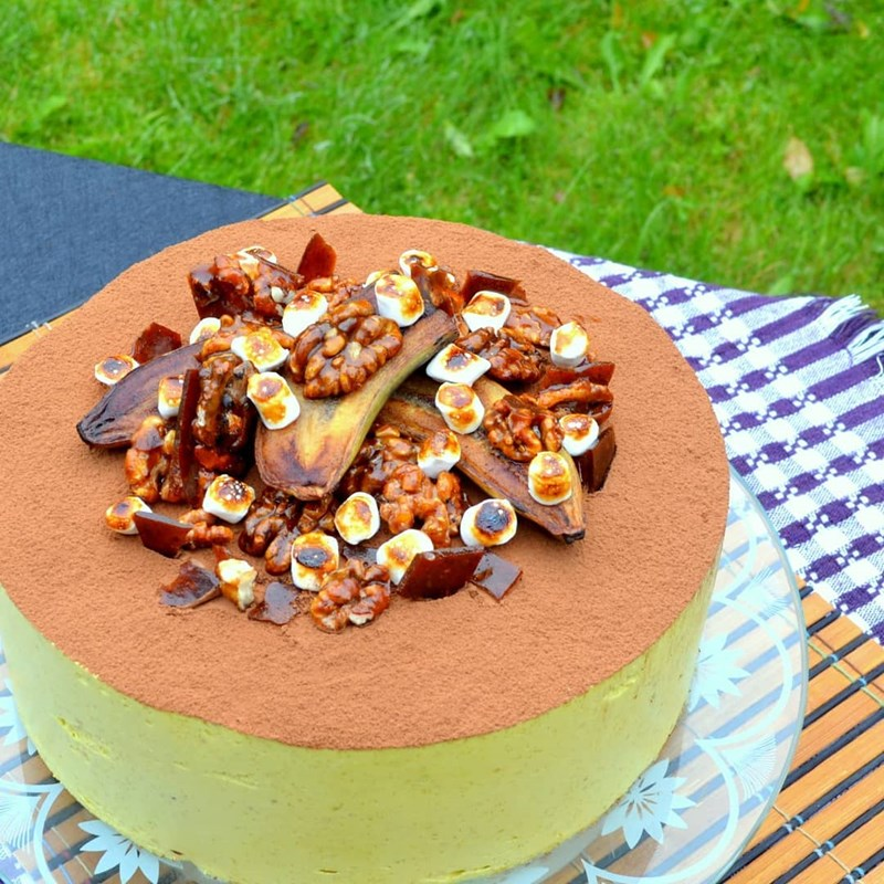 BANANA MOUSSE CAKE-4