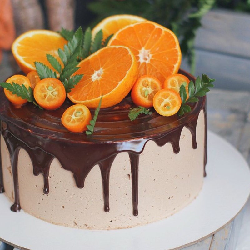 CHOCOLATE MOUSSE CAKE WITH ORANGES-2
